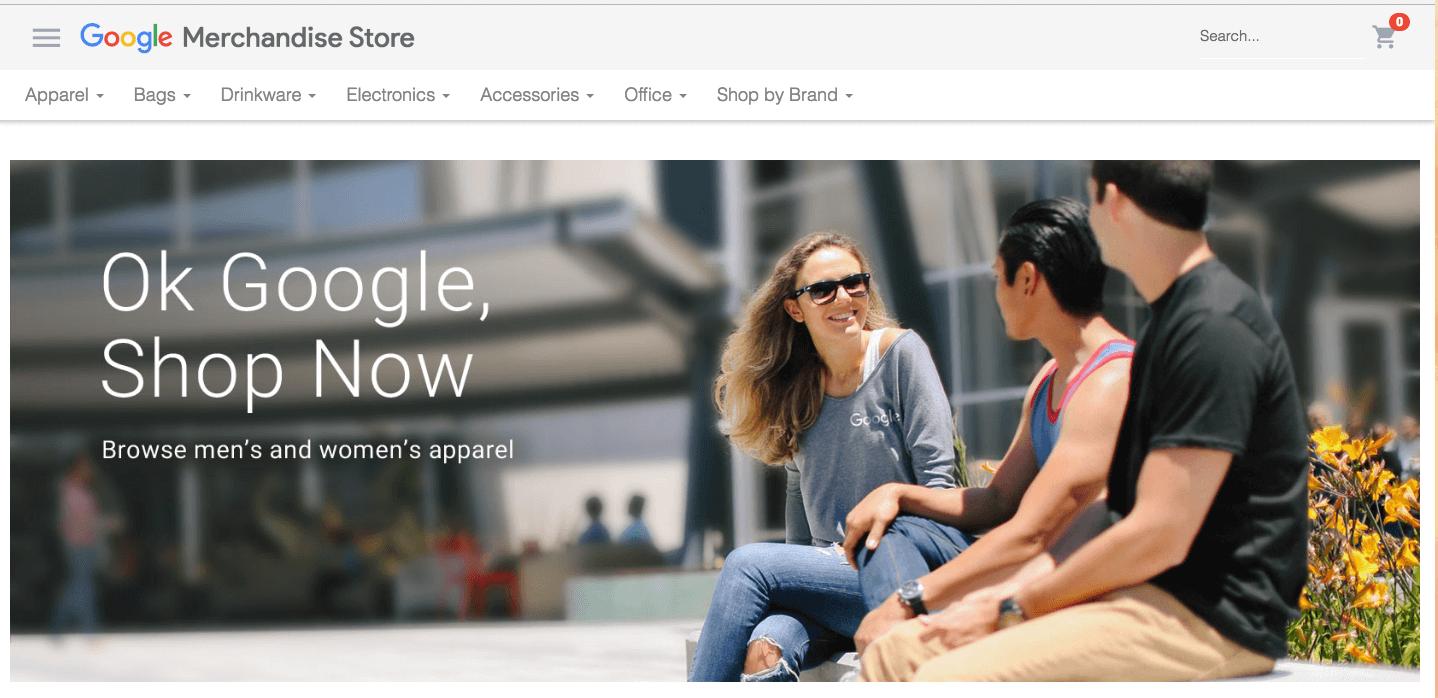 Google Merchandise Store, fuente de información para la cuenta Demo Google Analytics